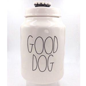 Rae Dunn Good Dog ceramic pet treats food canister